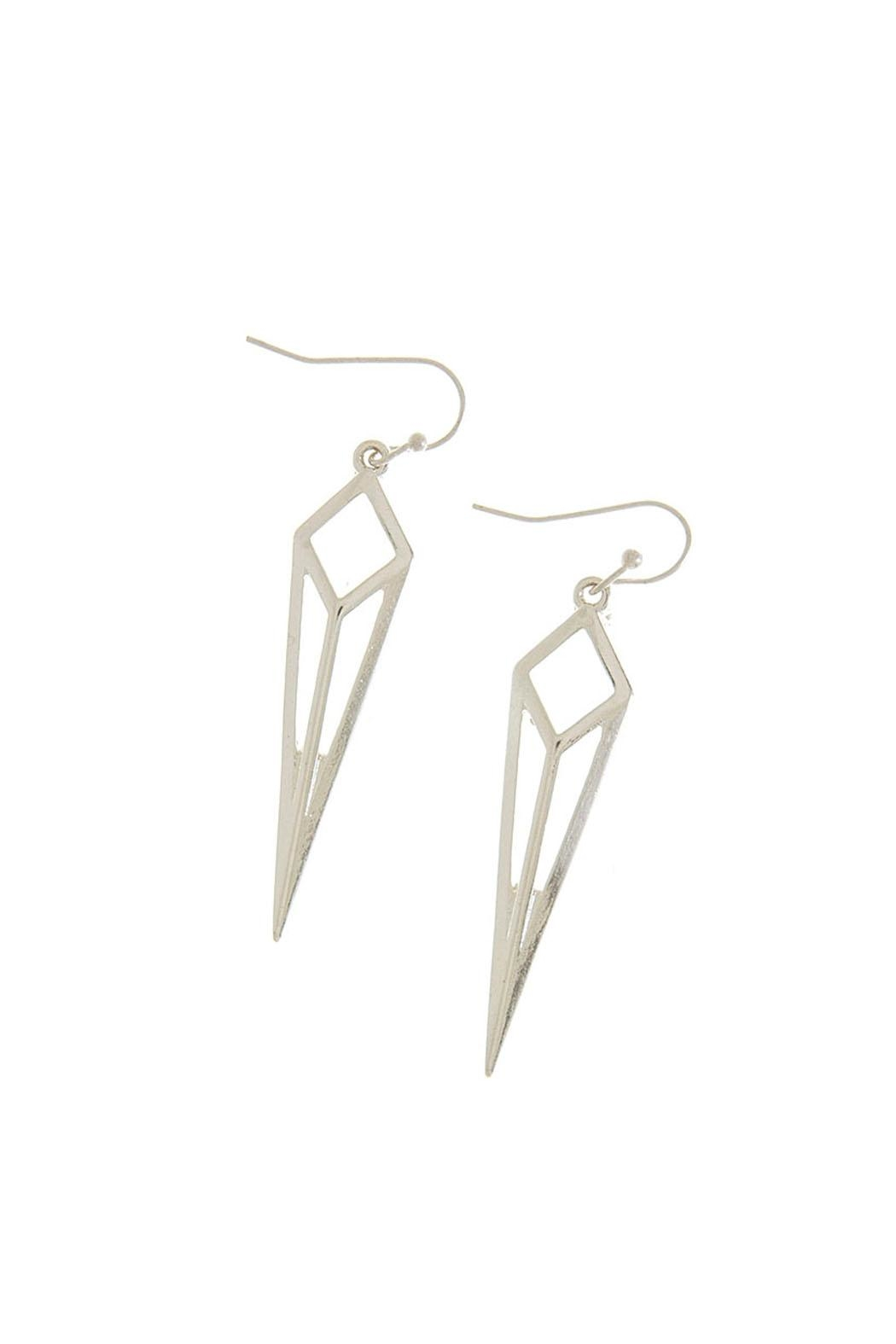 Wild Lilies Jewelry  Elongated Diamond Earrings - Front Cropped Image