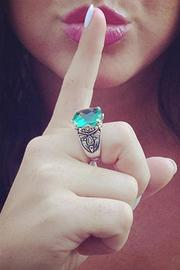 Wild Lilies Jewelry  Emerald Cocktail Ring - Front full body