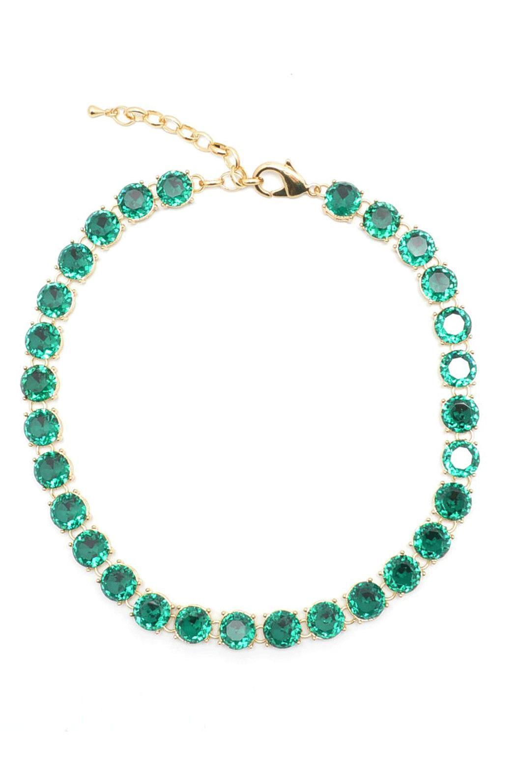 Wild Lilies Jewelry  Emerald Crystal Necklace - Main Image