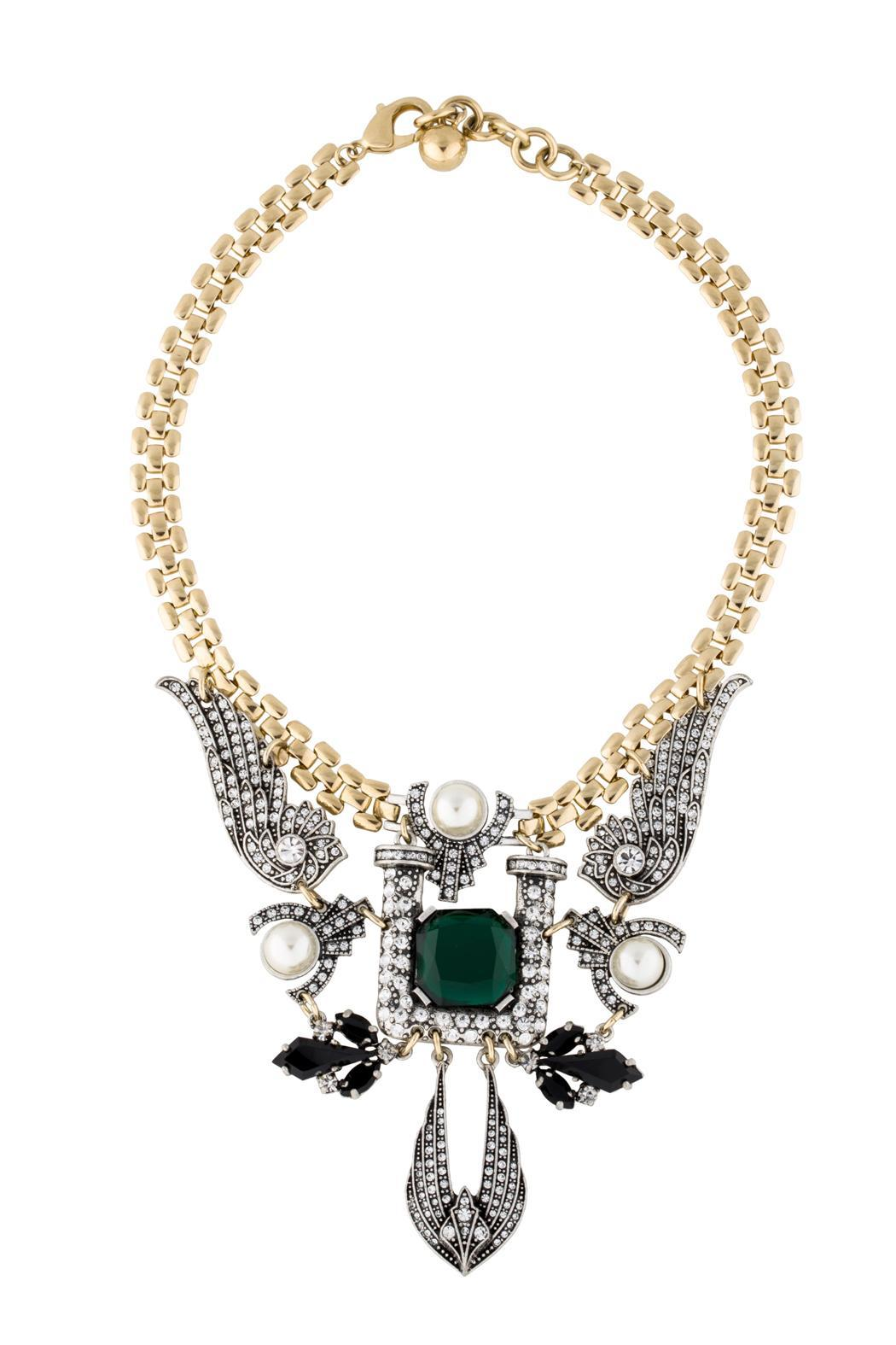 Wild Lilies Jewelry  Emerald Statement Necklace - Main Image
