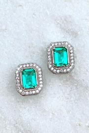 Wild Lilies Jewelry  Emerald Stud Earrings - Product Mini Image