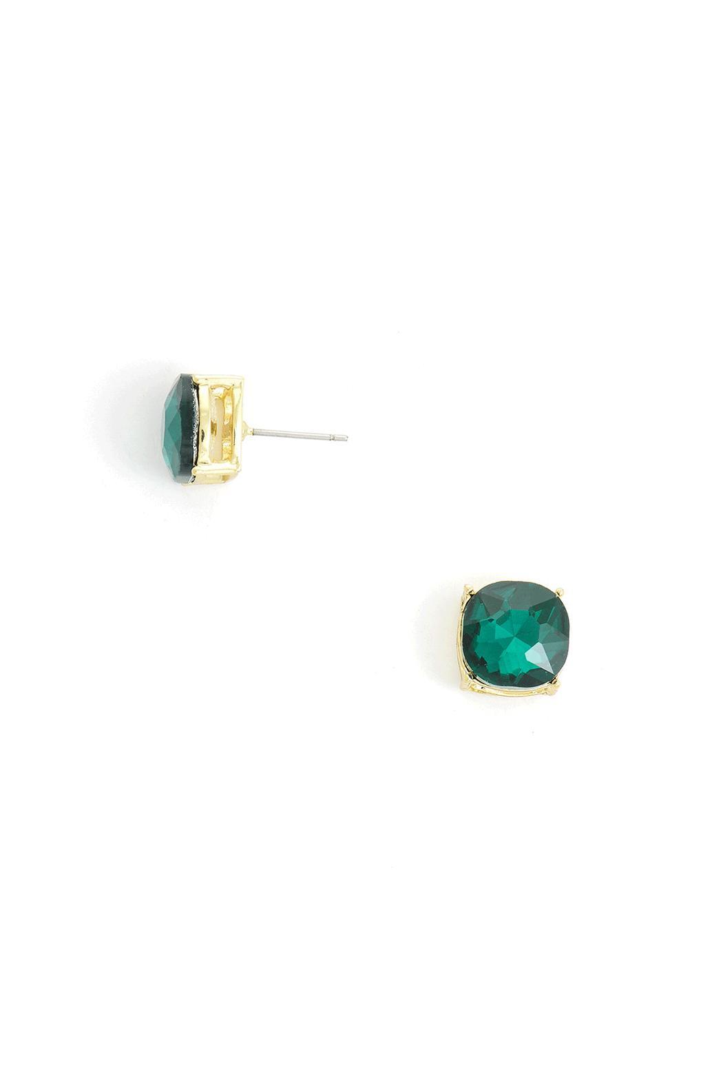 Wild Lilies Jewelry  Emerald Stud Earrings - Main Image