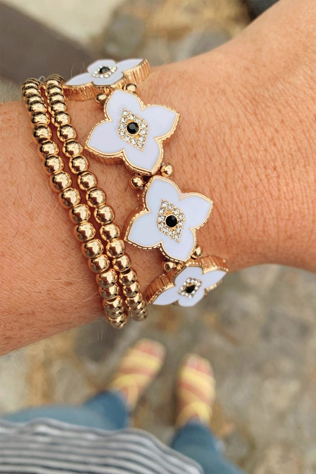 Wild Lilies Jewelry  Evil Eye Bracelet - Front Cropped Image