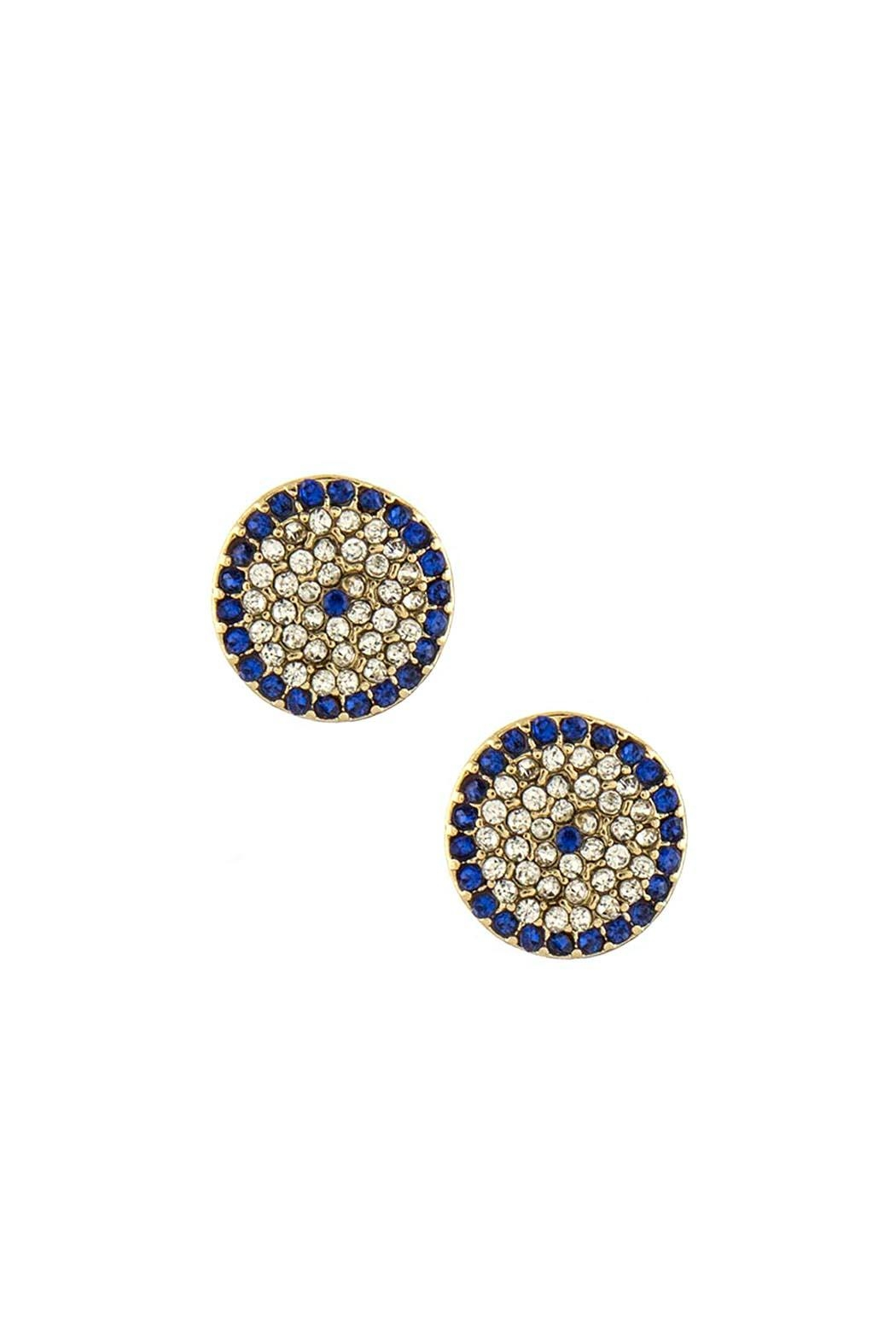 Wild Lilies Jewelry  Evil Eye Stud Earrings - Front Cropped Image