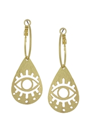 Wild Lilies Jewelry  Eye Hoop Earrings - Product Mini Image