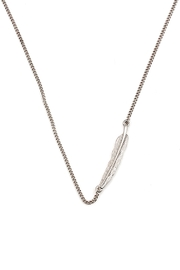 Wild Lilies Jewelry  Feather Pendant Necklace - Front cropped