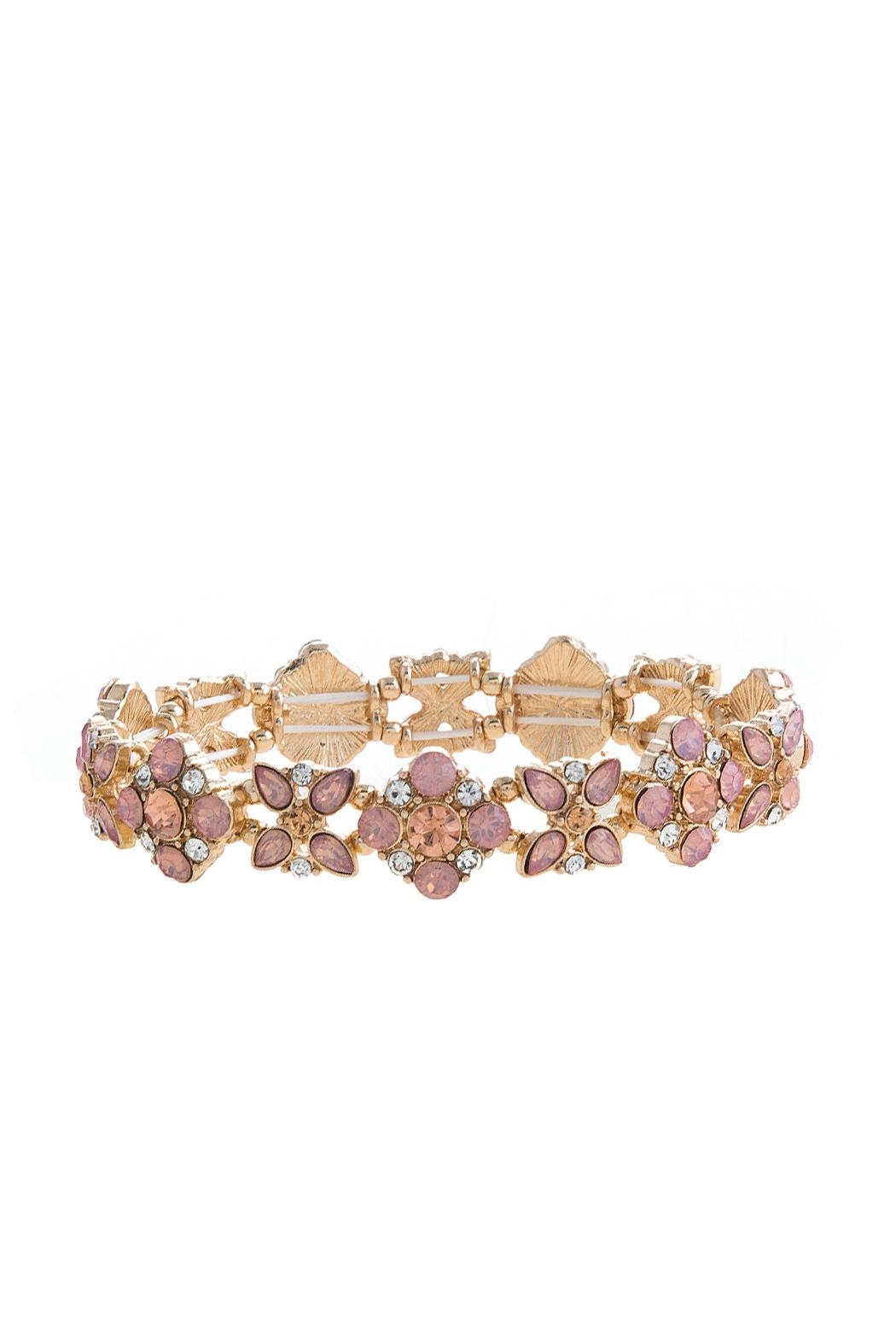 Wild Lilies Jewelry  Floral Crystal Bracelet - Main Image