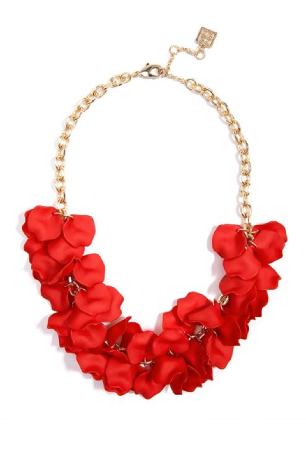 Wild Lilies Jewelry  Floral Statement Necklace - Front Full Image