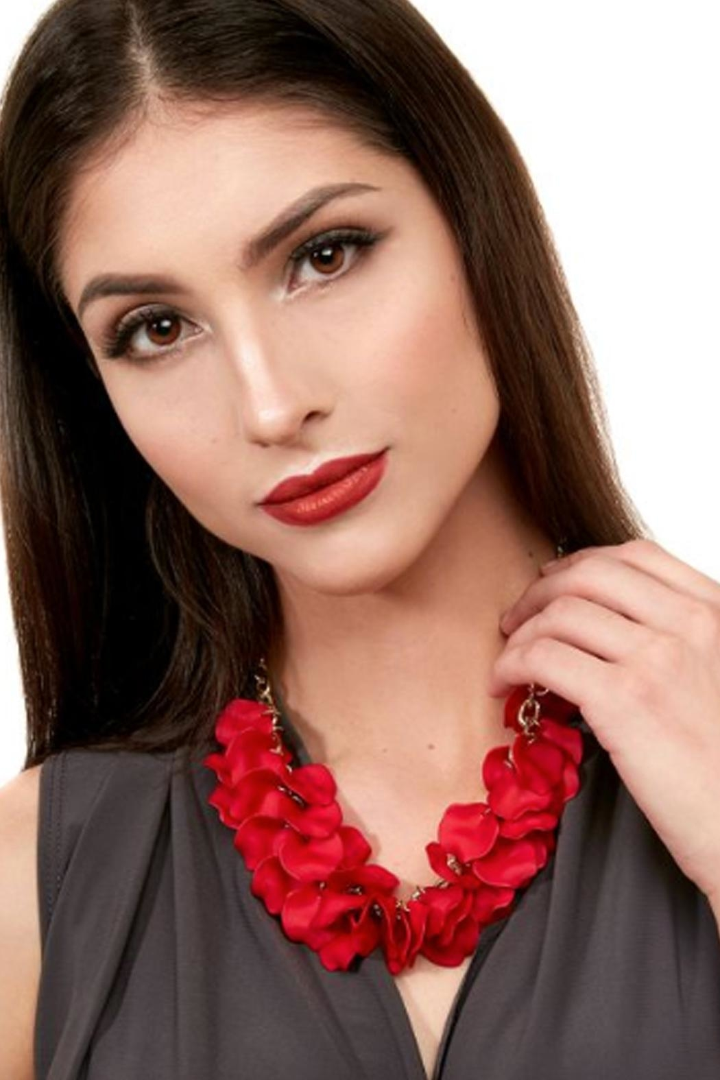 Wild Lilies Jewelry  Floral Statement Necklace - Main Image