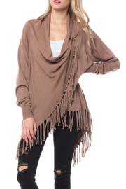 Wild Lilies Jewelry  Fringe Cardigan Sweater - Front cropped