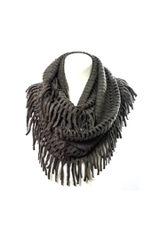 Wild Lilies Jewelry  Fringe Infinity Scarf - Front cropped