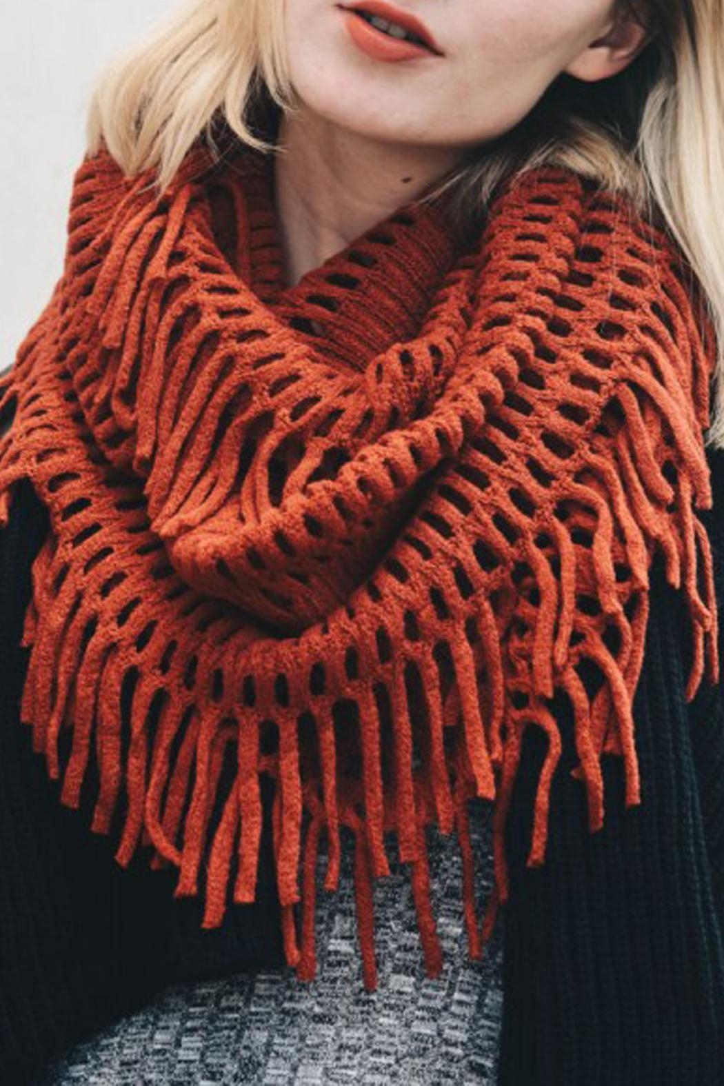 Wild Lilies Jewelry  Fringe Infinity Scarf - Front Cropped Image