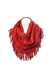 Wild Lilies Jewelry  Fringe Infinity Scarf - Front full body