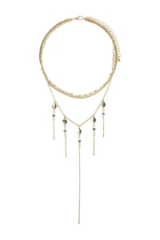 Wild Lilies Jewelry  Fringe Lariat Choker - Front cropped