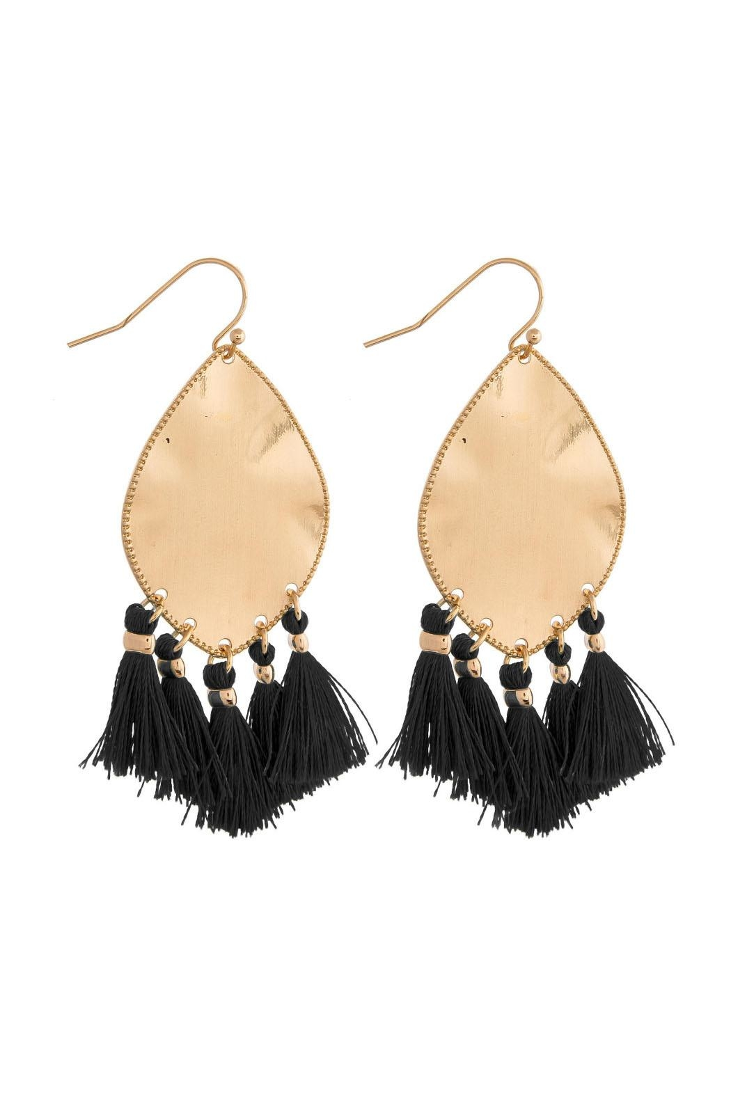 Wild Lilies Jewelry  Fringe Statement Earrings - Front Cropped Image