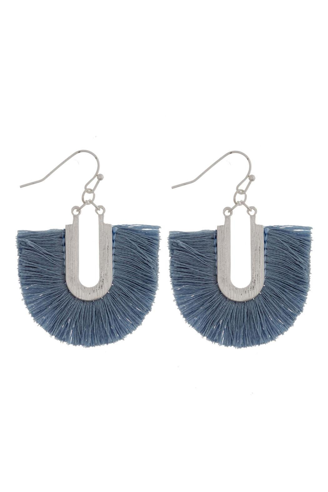 Wild Lilies Jewelry  Fringe Statement Earrings - Main Image