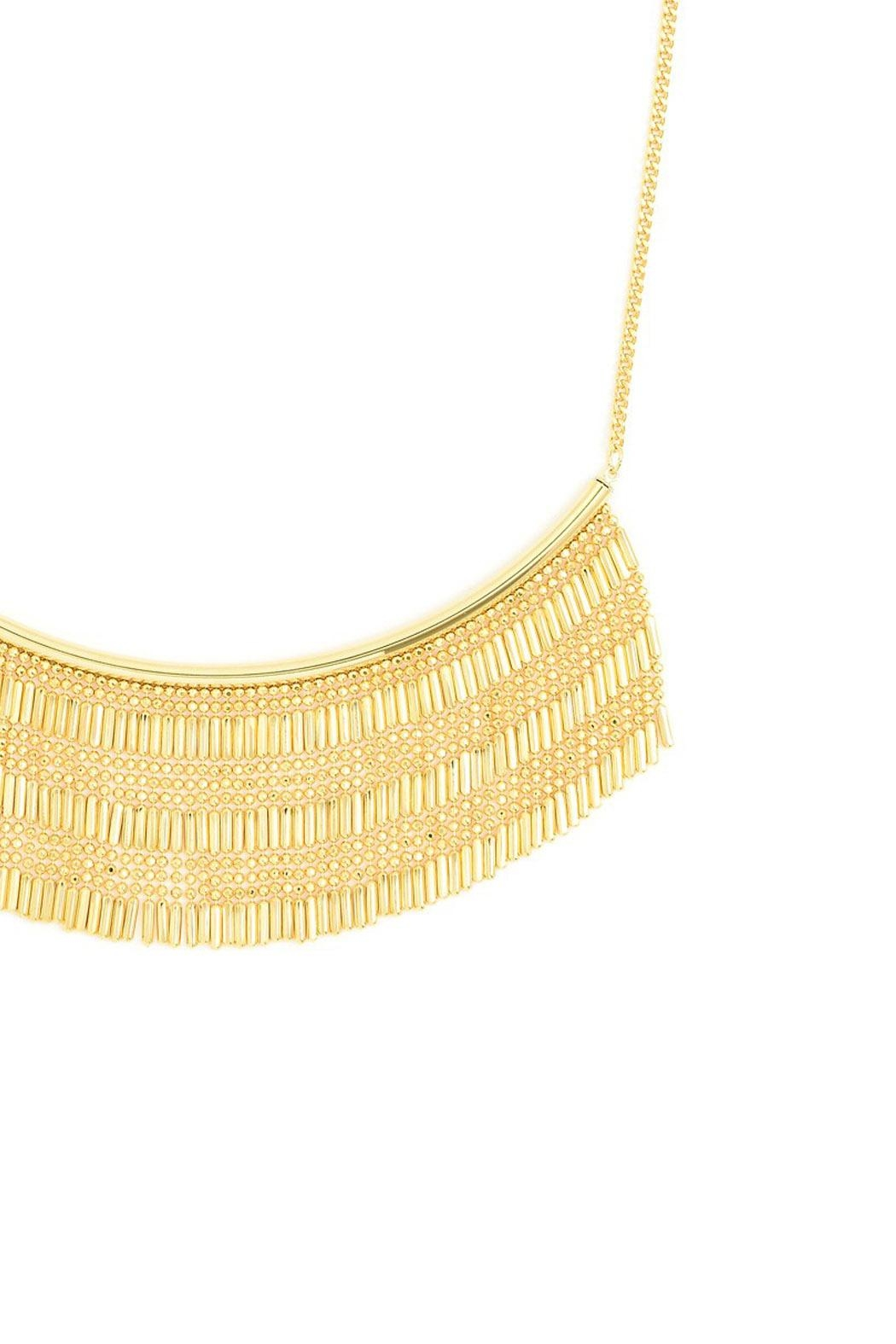 Wild Lilies Jewelry  Fringe Statement Necklace - Front Full Image