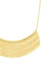 Wild Lilies Jewelry  Fringe Statement Necklace - Front full body