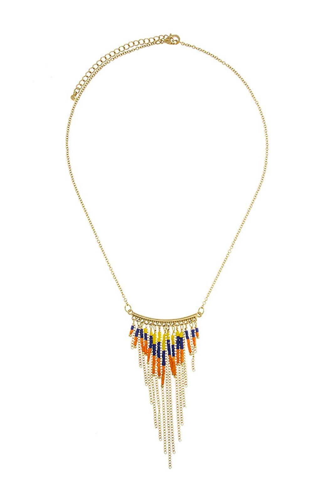 Wild Lilies Jewelry  Fringe Statement Necklace - Main Image