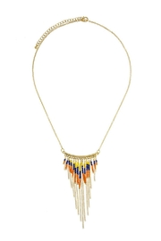 Wild Lilies Jewelry  Fringe Statement Necklace - Front cropped
