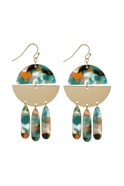 Wild Lilies Jewelry  Fringe Tortoise Earrings - Product Mini Image