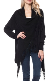 Wild Lilies Jewelry  Fringe Wrap Cardigan - Front cropped