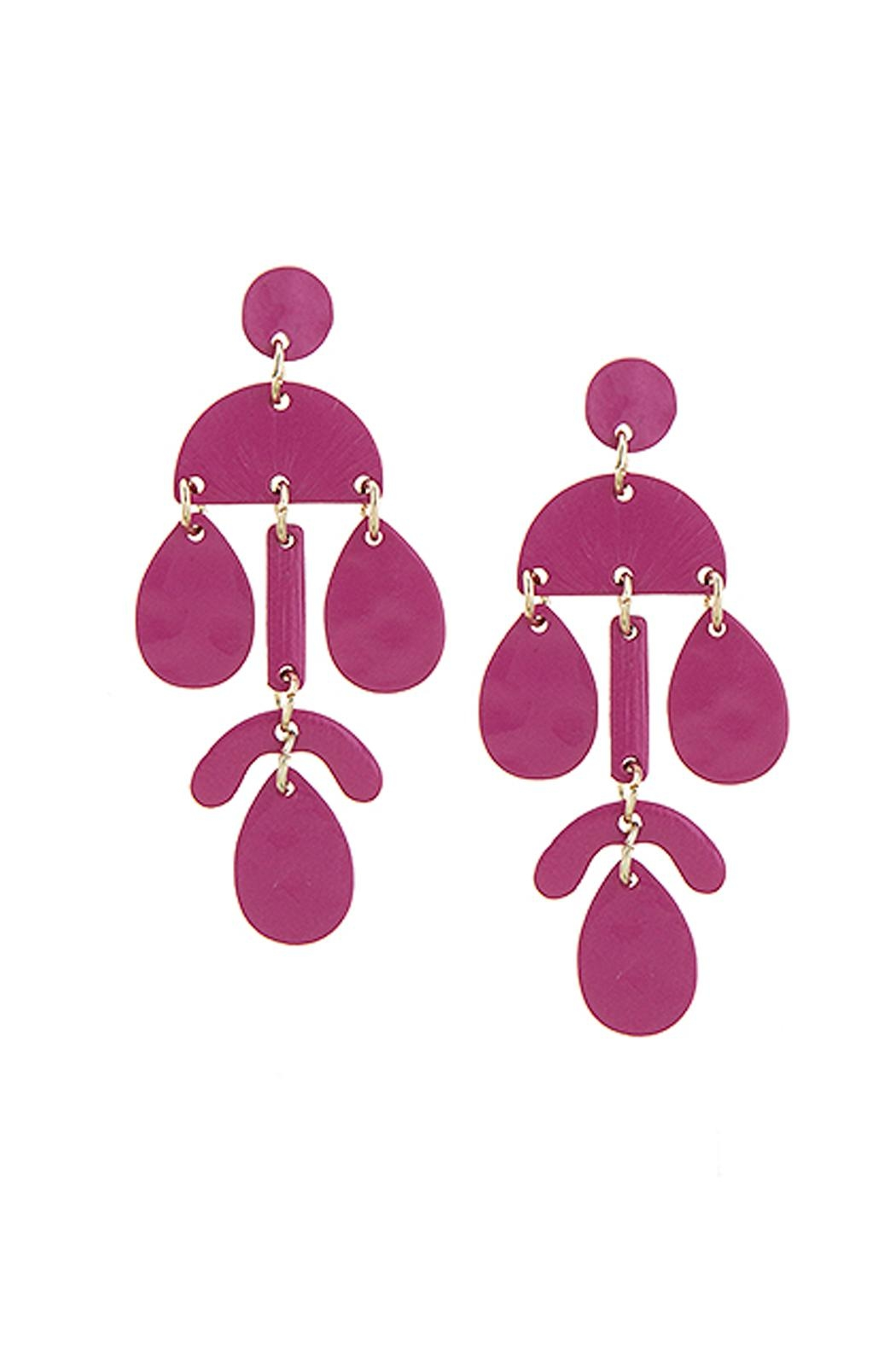 Wild Lilies Jewelry  Fuchsia Geometric Earrings - Front Cropped Image