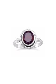 Wild Lilies Jewelry  Garnet Oval Ring - Product Mini Image