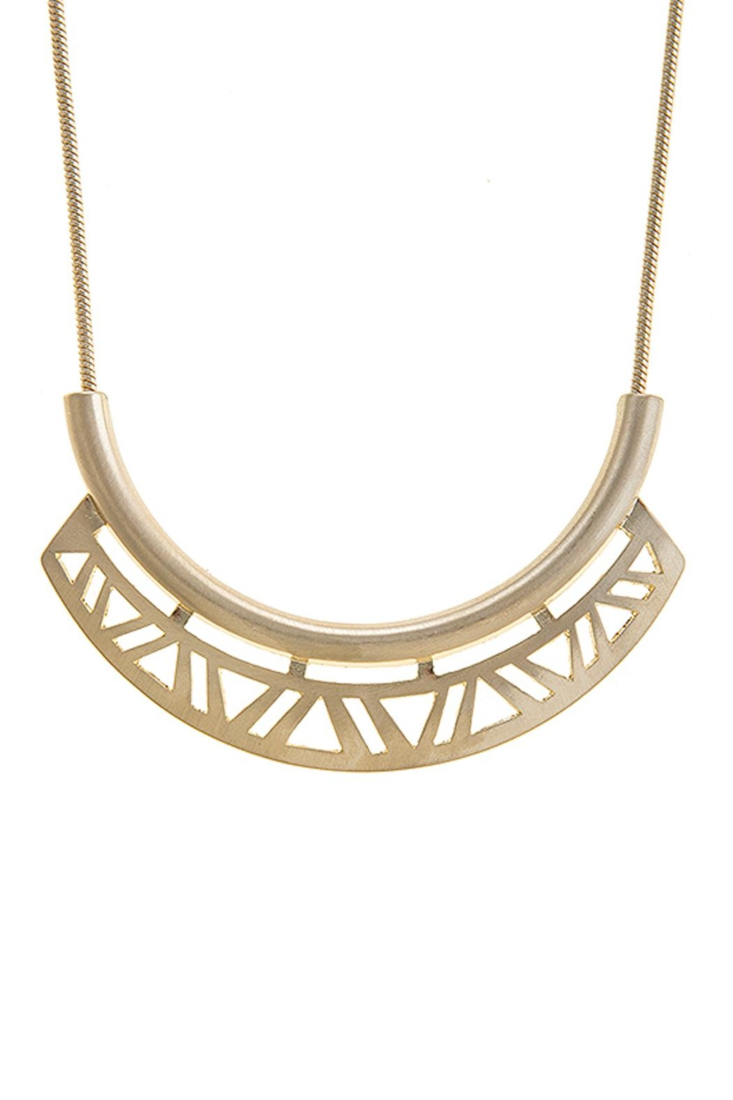 Wild Lilies Jewelry  Geometric Cutout Necklace - Front Full Image