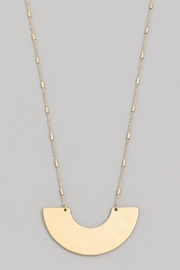 Wild Lilies Jewelry  Geometric Pendant Necklace - Front full body