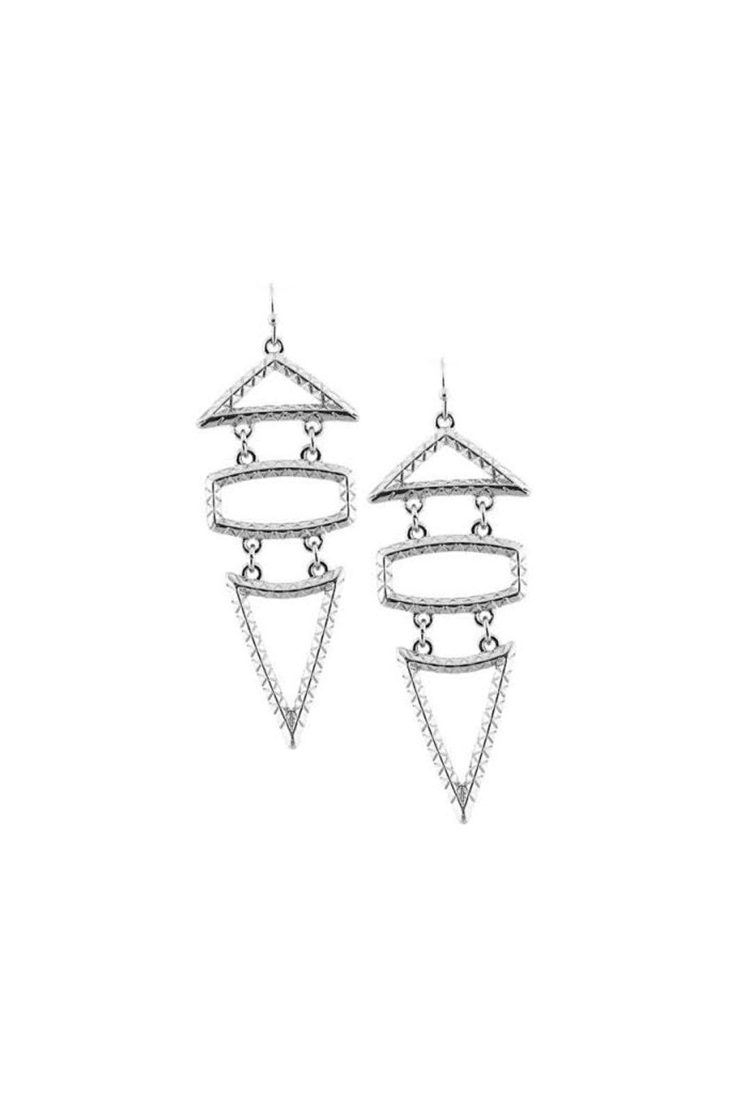 Wild Lilies Jewelry  Geometric Statement Earrings - Main Image