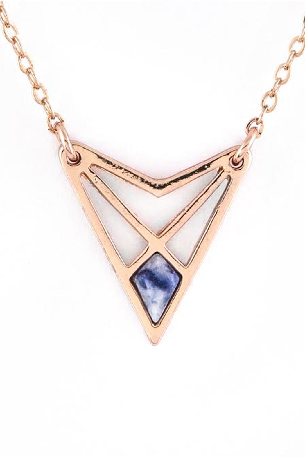 Wild Lilies Jewelry  Geometric Triangle Necklace - Main Image