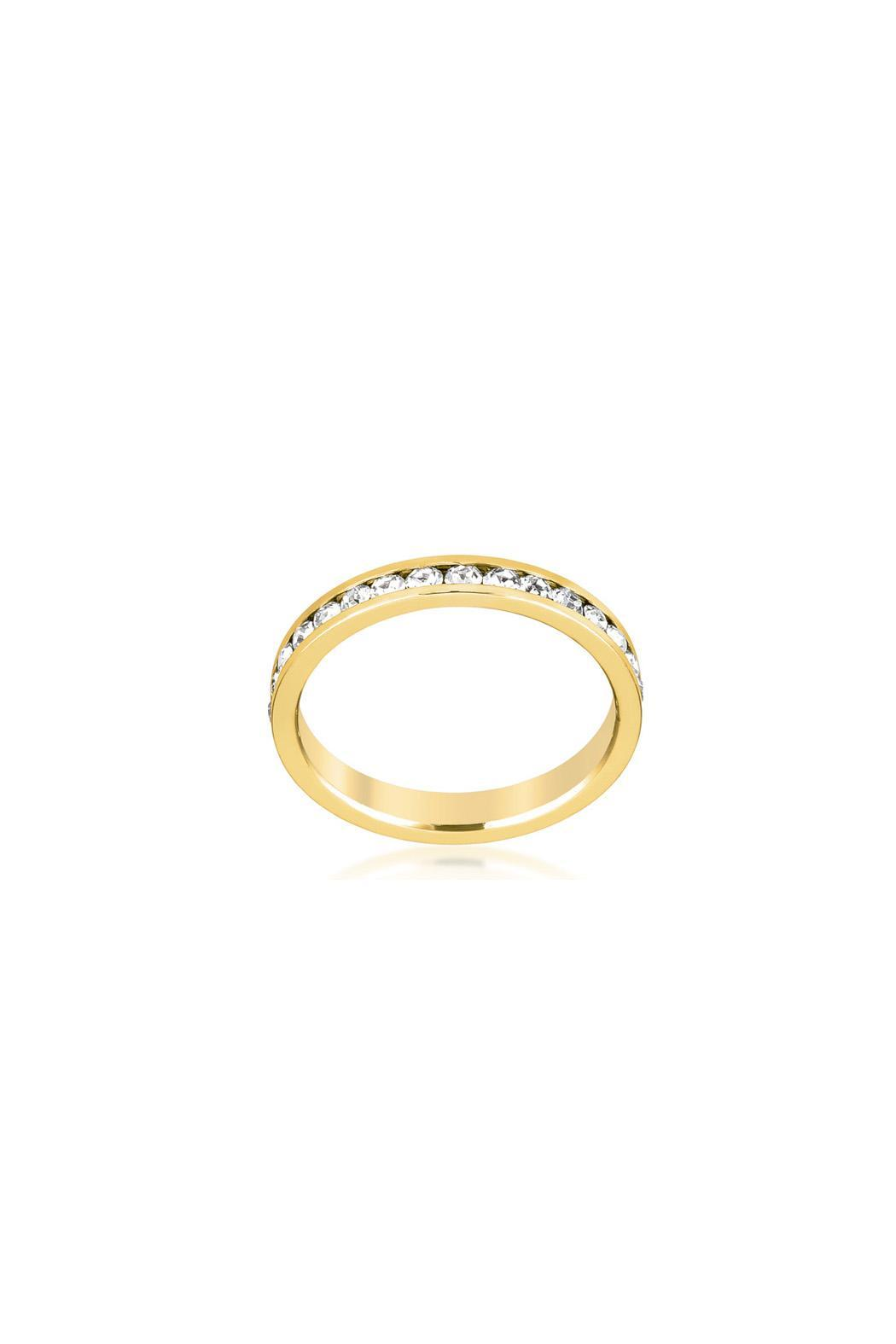 Wild Lilies Jewelry  Gold Band Ring - Front Full Image