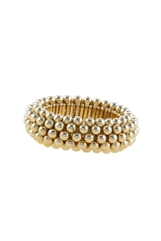 Wild Lilies Jewelry  Gold Bangle Bracelet - Front cropped