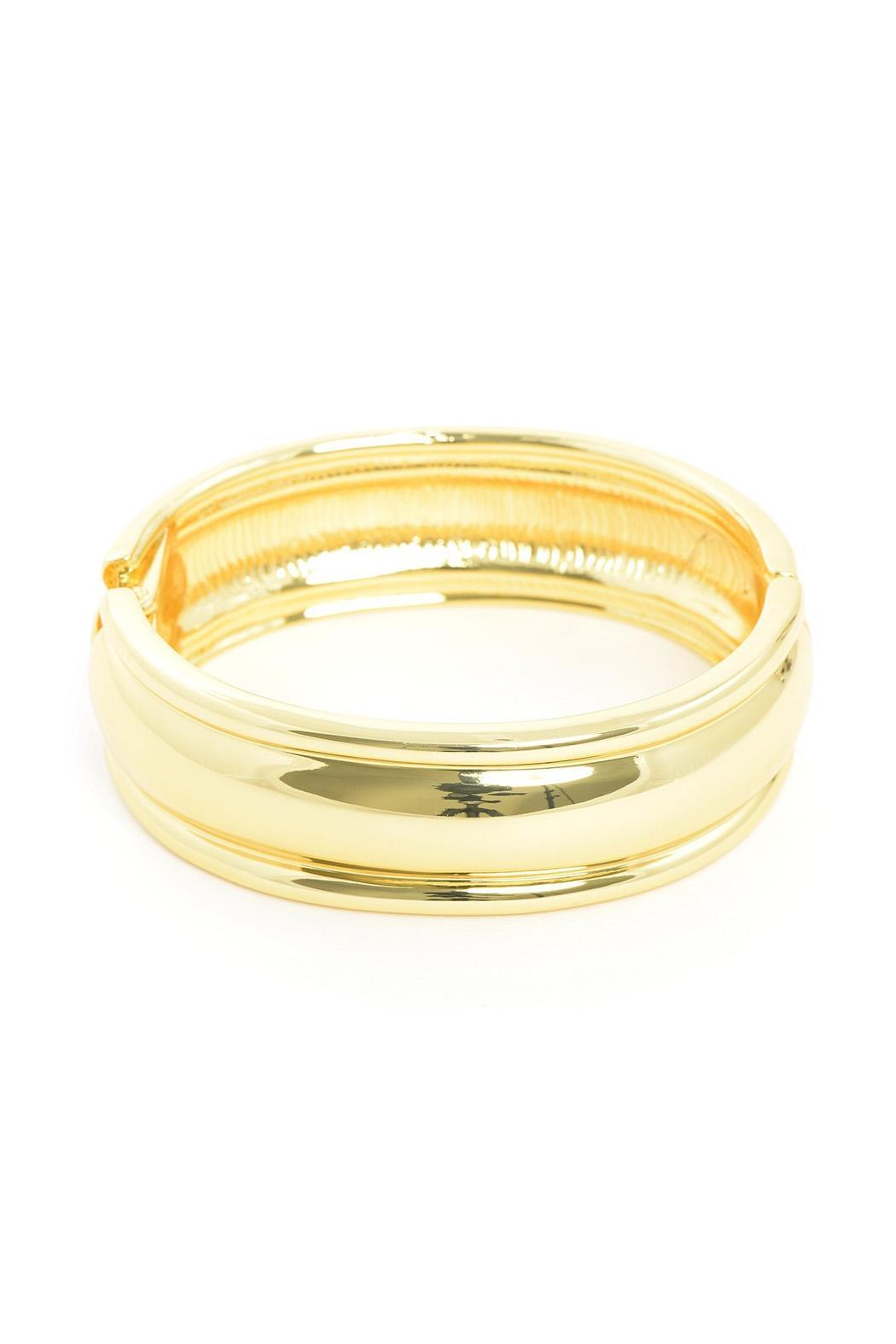 Wild Lilies Jewelry  Gold Bangle Bracelet - Front Full Image