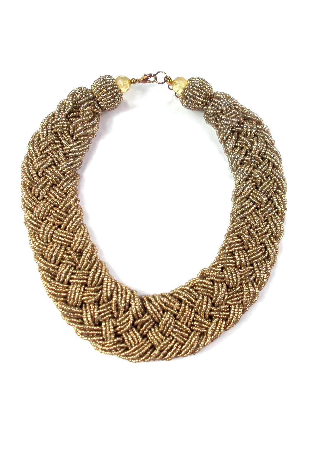 Wild Lilies Jewelry  Gold Braided Necklace - Main Image