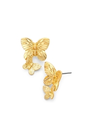 Wild Lilies Jewelry  Gold Butterfly Earrings - Product Mini Image