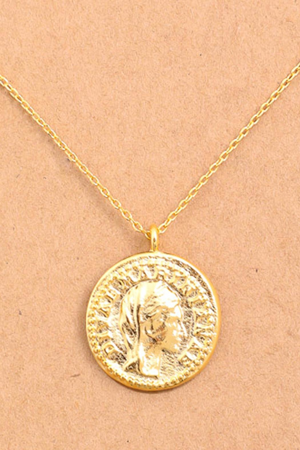 Wild Lilies Jewelry  Gold Coin Necklace - Front Full Image
