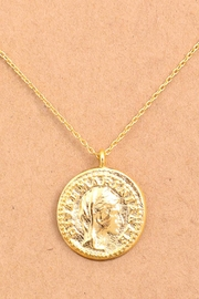 Wild Lilies Jewelry  Gold Coin Necklace - Front full body