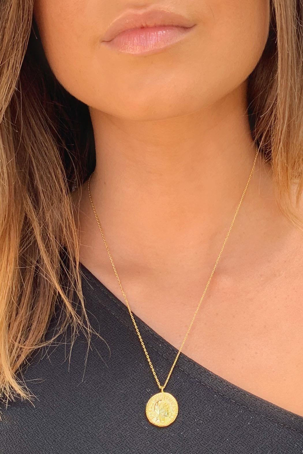 Wild Lilies Jewelry  Gold Coin Necklace - Main Image
