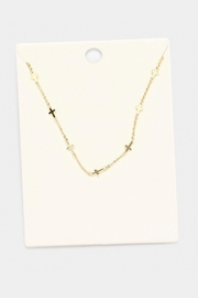 Wild Lilies Jewelry  Gold Cross Necklace - Product Mini Image