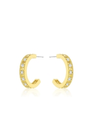 Wild Lilies Jewelry  Gold Crystal Hoops - Product Mini Image