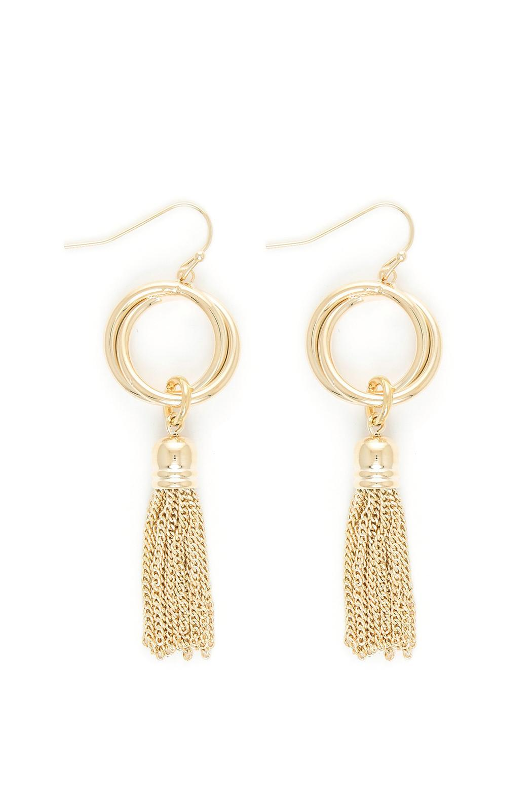 Wild Lilies Jewelry  Gold Fringe Earrings - Main Image