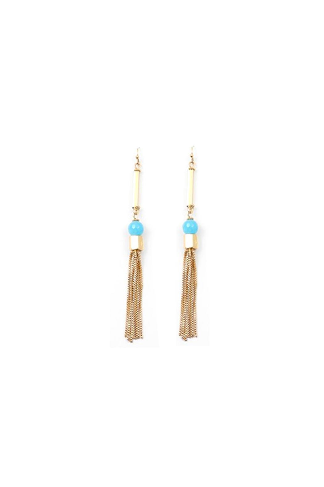 Wild Lilies Jewelry Gold Fringe Earrings Front Cropped Image