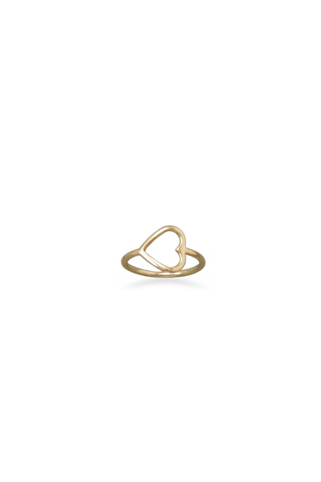 Wild Lilies Jewelry  Gold Heart Ring - Main Image