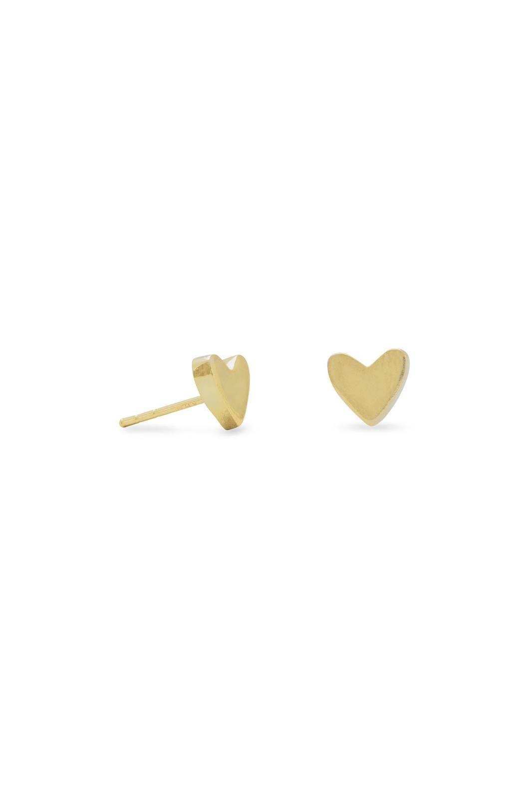 Wild Lilies Jewelry  Gold Heart Studs - Main Image