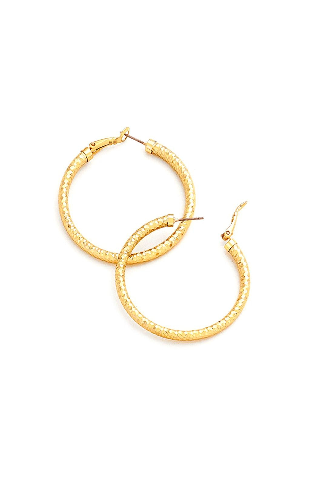 Wild Lilies Jewelry  Gold Hoop Earrings - Front Cropped Image
