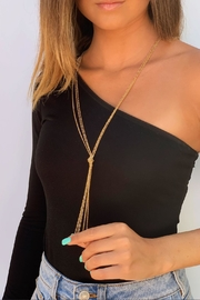 Wild Lilies Jewelry  Gold Knot Lariat - Front cropped