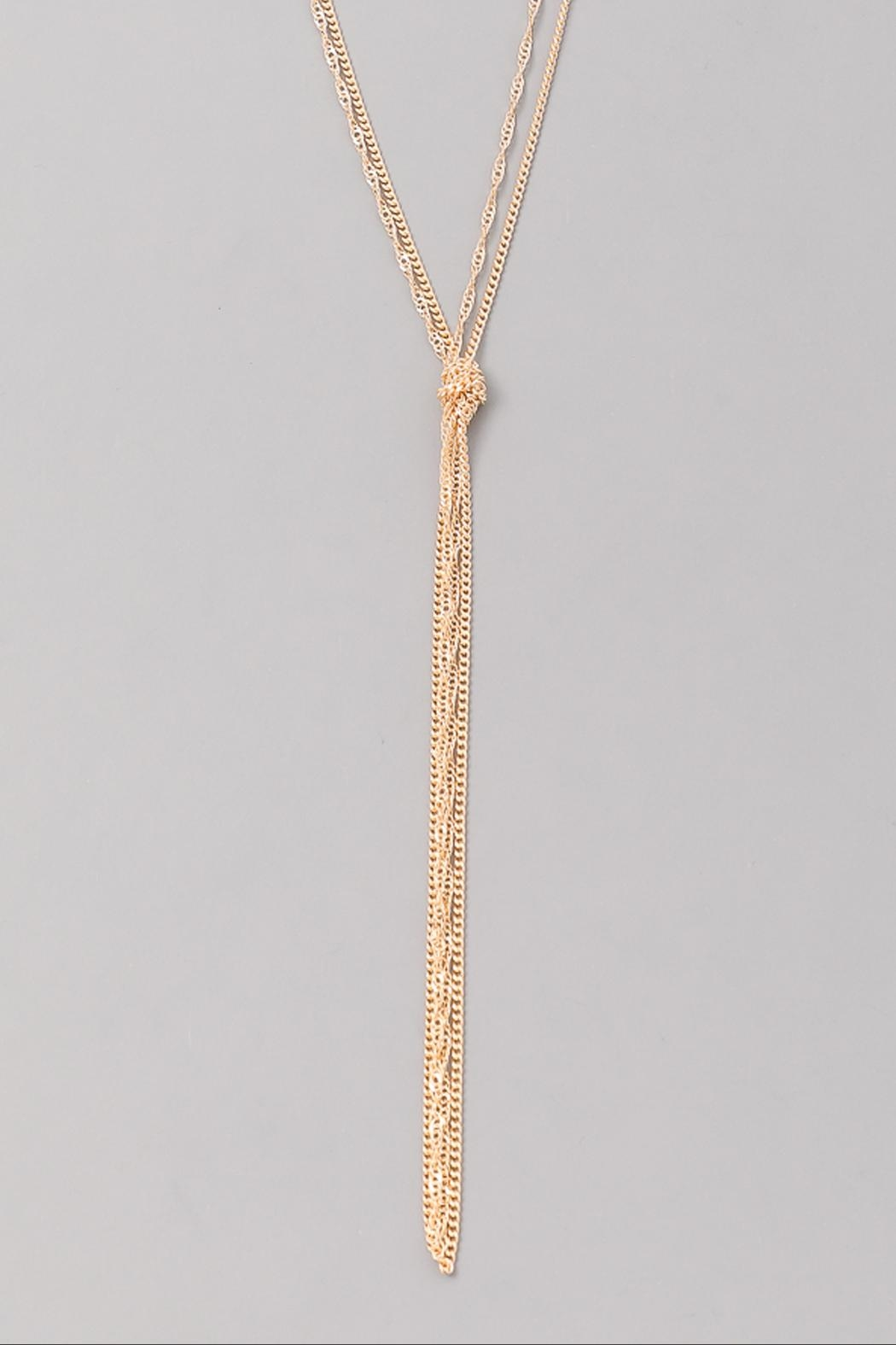 Wild Lilies Jewelry  Gold Knot Lariat - Front Full Image
