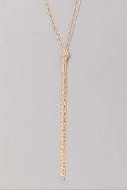 Wild Lilies Jewelry  Gold Knot Lariat - Front full body